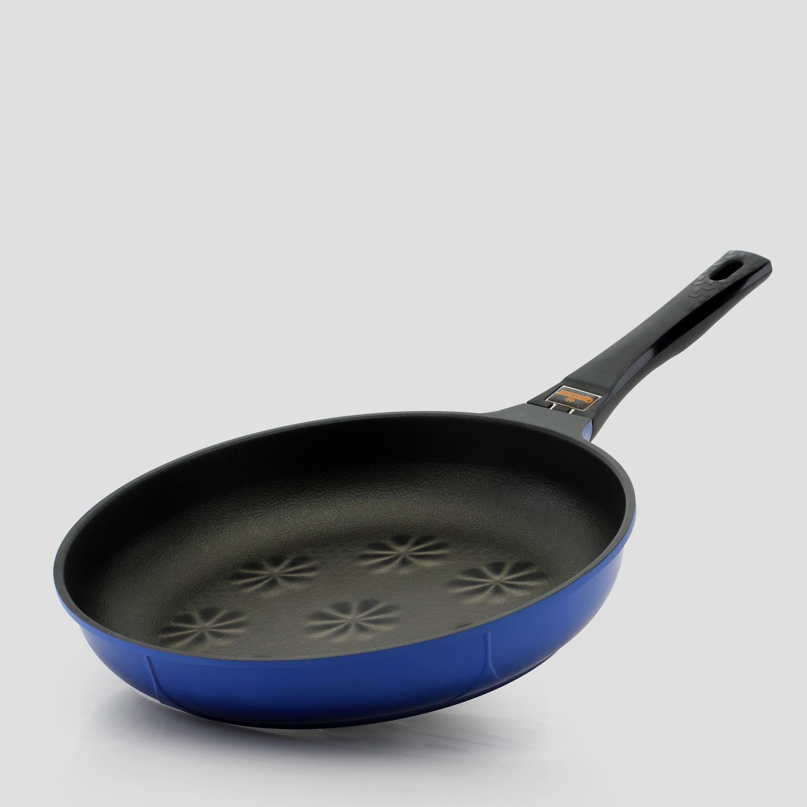 퀸센스 솔리드 3D 입체식코팅 후라이팬32cm(블루)